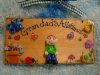 3d Garden Shed Greenhouse  Allotment Playhouse Personalised Sign Handmade Plaque